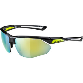 Alpina Nylos HR Glasses black-neonyellow